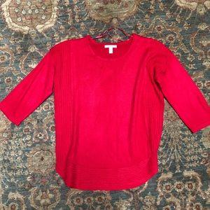 Dana Buchman Red Valentines Day Sweater